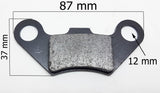 BP028 SET OF REAR BRAKE PADS FOR 125CC TORONTO / T FORCE QUAD BIKE