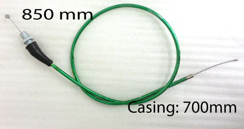 CTH21 STRAIGHT THROTTLE CABLE 85CM CNC FOR DIRT / PIT BIKE GREEN - Orange Imports - 1