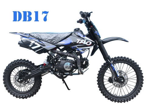 "DB17 125CC 4 STROKE DIRT BIKE 17"" FRONT 14"" REAR WHEELS KICK START ONLY, MANUAL GEARS"