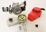 ENG30 COMPLETE ENGINE WITH TRANSFER BOX, RED PULL START FOR 49CC MINI DIRT BIKE