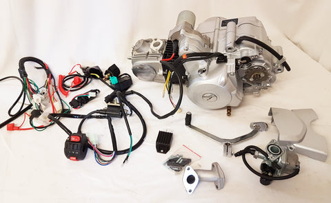 ENG44 125CC QUAD BIKE ENGINE IP52FMH AUTO WITH REVERSE & ELECTRIC COMPONENTS