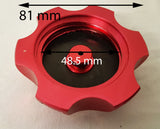 FC006 ANODISED FUEL PETROL CAP FOR DIRT / PIT BIKE / XSPORT RED - Orange Imports - 2