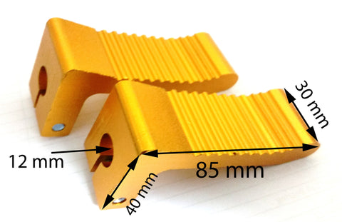 FP008 NON-SLIP FOOT REST PEGS GOLD FOR 47CC 49CC MINI MOTO - Orange Imports - 1