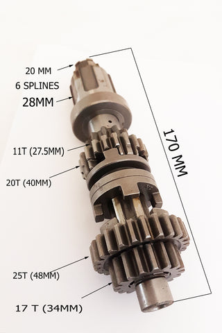 GEAR10 TRANSMISSION MAIN GEAR SHAFT ASSEMBLY FOR BASHAN BS200S-7 200CC QUAD BIKE ATV