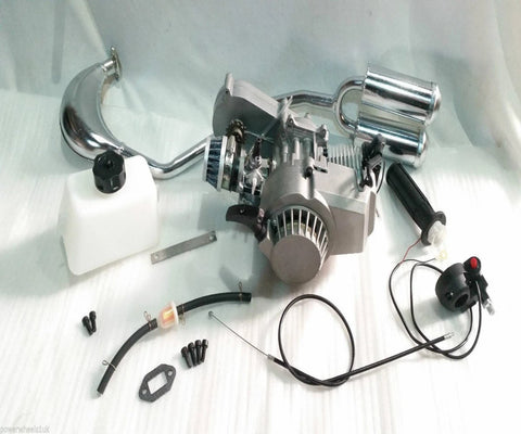 49CC MINI DIRT BIKE ENGINE KIT, FUEL TANK, EXHAUST, GASKET, PROJECTS CONVERSION