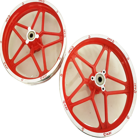 "RIM53 RED SET OF 10"" FRONT & REAR RIMS WHEELS FOR 49CC DB49 MINI DIRT BIKE"
