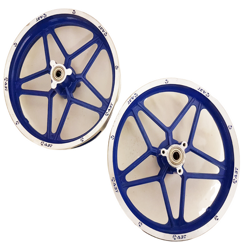 "RIM55 BLUE SET OF 10"" FRONT & REAR RIMS WHEELS FOR 49CC DB49  MINI DIRT BIKE"