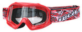 KIDS YOUTH WULFSPORT CUB ABSRACT GOGGLES FOR DIRT / QUAD BIKE - Orange Imports - 3