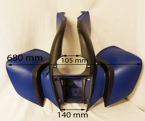 BLUE / BLACK FRONT FAIRING FOR BASHAN BS200S-7 & BS250S-11B QUAD BIKE