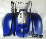 BLUE / BLACK REAR FAIRING BASHAN BS200S-7, BS250S-1B, SHENKE 250 CC QUAD BIKE