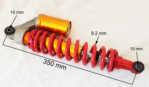 SH035 ADJUSTABLE SHOCK ABSORBER SUSPENSION SPRING QUAD BIKE ATV 350MM