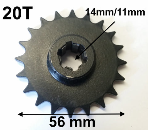 SPF31 GT-ONE 2 STROKE 49CC DRIFT TRIKE ENGINE SPROCKET 20 TOOTH FOR 8MM CHAIN - Orange Imports - 1
