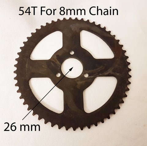 SPR11 REAR SPROCKET 54 TOOTH FOR MINI DIRT BIKE 8MM CHAIN (26mm Centre)