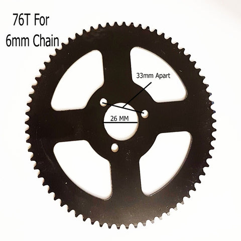 SPR38  78 TOOTH REAR SPROCKET FOR MINI MOTO 6MM 25H CHAIN - Orange Imports