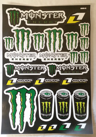 ST030 STICKER KIT MONSTER ENERGY FOR MINI MOTO / DIRT / QUAD BIKE - Orange Imports