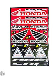 ST031 STICKER KIT HONDA CRF FOR MINI MOTO / DIRT / QUAD BIKE - Orange Imports