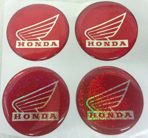 ST032 SET OF 4 RED BUTTON STICKERS DECALS FOR PIT / DIRT BIKES / SWEGWAY - Orange Imports