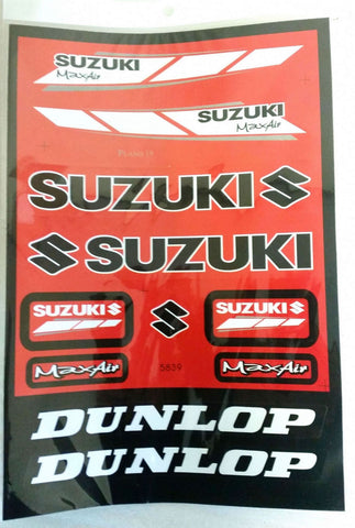 ST037 STICKER KIT SUZUKI MAX AIR RED FOR MINI MOTO / DIRT / QUAD BIKE - Orange Imports