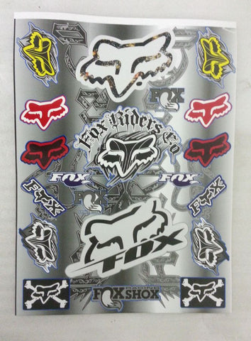 ST042 STICKER KIT FOX RACING FOR MINI MOTO / DIRT / PIT BIKE - Orange Imports
