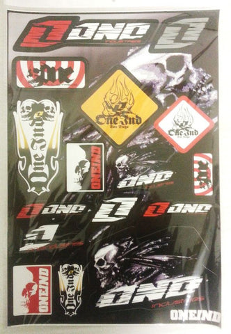 ST043 STICKER KIT ONE INDUSTRIES FOR QUAD BIKE ATV SKULL STICKERS - Orange Imports - 1