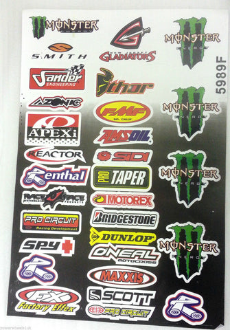 ST047 STICKER KIT MINI MOTO MINI DIRT QUAD BIKE ATV VARIOUS - Orange Imports