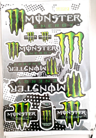ST057 MONSTER STICKERS STICKER KIT FOR PIT / DIRT / MINI QUAD BIKES - Orange Imports