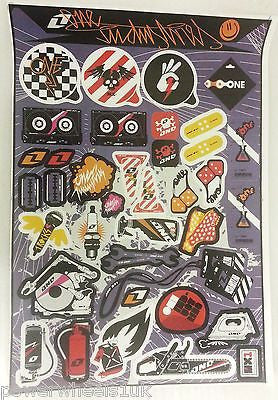 ST062 STICKER KIT ONE INDUSTRIES STICKERS  FOR PIT / DIRT / MINI QUAD BIKES - Orange Imports