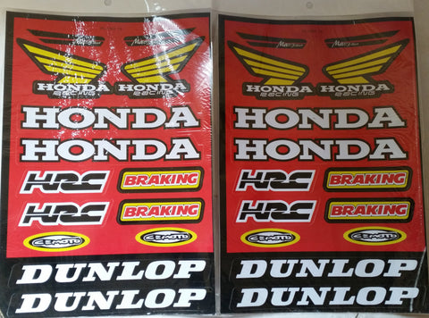 ST063 RED STICKERS STICKER KIT PACK OF 2 FOR PIT DIRT MINI QUAD BIKES - Orange Imports - 1