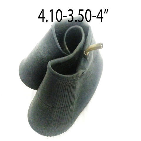 TYI19 INNER TUBE 4.10/3.50-4 ANGLED FOR 49CC MINI QUAD / WHEEL BARROW / SACK / TRUCK