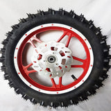 "WMD05 RED FRONT 10"" WHEEL 49CC MINI DIRT BIKE RIM WITH TYRE AND DISC"