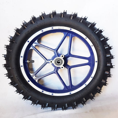 "WMD09 BLUE FRONT 10"" WHEEL 49CC MINI DIRT BIKE RIM WITH TYRE DB49-1"