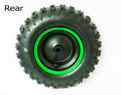 "6"" MINI QUAD BIKE RIM WITH TUBELESS TYRE 4.10-6 RED, BLUE OR GREEN FRONT OR REAR - Orange Imports - 2"