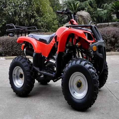 JLA13  RED 4 STROKE,  150CC, GY6 OFF ROAD QUAD BIKE , FORWARD / REVERSE,  WITH TOW BAR,