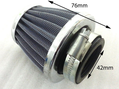 AF035 TALL METAL AIR FILTER 42MM FOR DIRT / PIT OR QUAD BIKES 110CC - 150CC - Orange Imports - 1