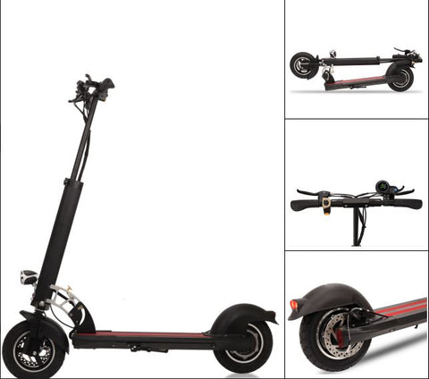 "Electric E Scooter 500w 48v 13Ah Lithium Battery 10"" Wheels 150KG Track Commuter"