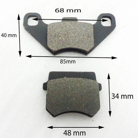 BP001 SET OF BRAKE PADS FOR APACHE / BASHAN QUAD / ATV / DIRT BIKE - Orange Imports - 1