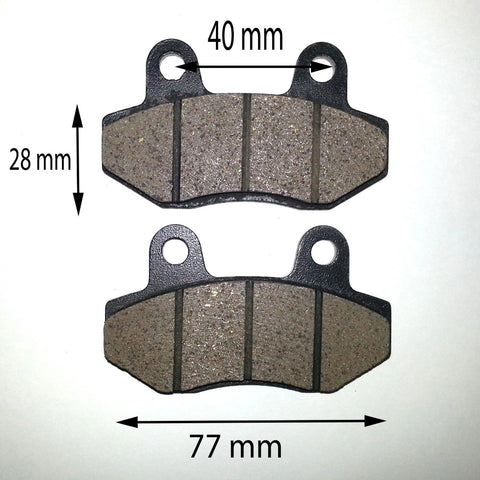BP002 SET OF BRAKE PADS FOR 50Cc - 150CC DIRT / PIT / QUAD BIKE - Orange Imports - 1