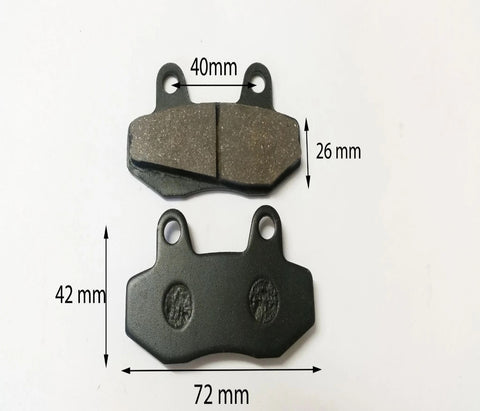 BP006 SET OF BRAKE PADS QUAD ATV / DIRT BIKE 50CC 110CC FISH STYLE - Orange Imports - 1