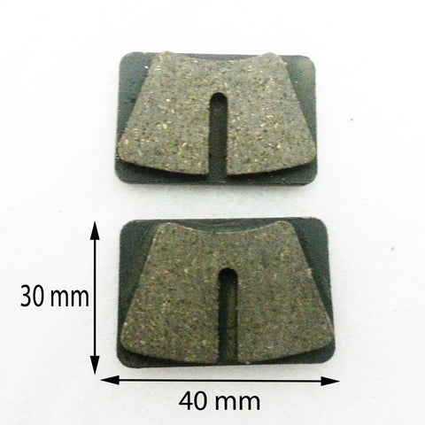 BP008 SET OF BRAKE PADS FOR PIT / DIRT BIKE / QUAD  50CC - 250CC - Orange Imports - 1