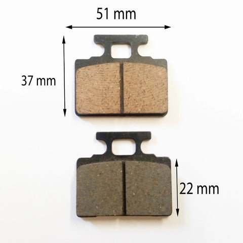 BP010 SET OF BRAKE PADS FOR SYM SCOOTERS 50CC - 100CC - Orange Imports - 1