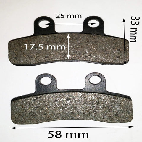 BP021 FRONT BRAKE PADS FOR 125CC ORION DIRT / PIT BIKE - Orange Imports