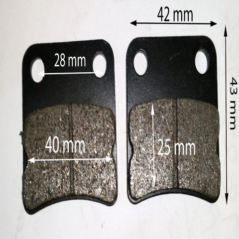 BP022 REAR BRAKE PADS FOR 125CC ORION DIRT / PIT BIKE 2014 - Orange Imports