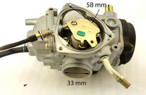 CAR26 CARBURETTOR FOR HAILI 350CC QUAD BIKE KINZO PD33J 33MM - Orange Imports - 1