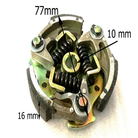 CL011 WATER COOLED 3 SPRING FOR MINI MOTO ADJUSTABLE CLUTCH 39CC - Orange Imports - 1