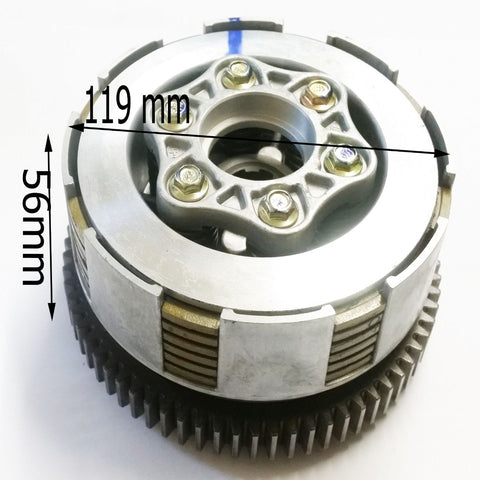 CL014 CLUTCH ASSEMBLY FOR BASHAN BS200S-3 QUAD ATV 200CC - Orange Imports - 1