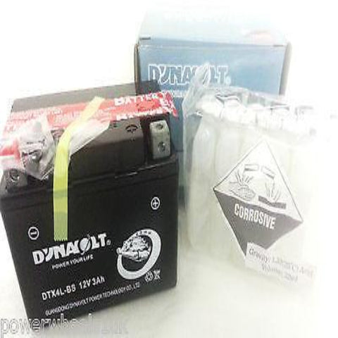 DTX4L-BS YTX4L-BS, GTX4L-BS 12V 3AH BATTERY DYNAVOLT QUAD BIKE / ATV / MOTORBIKE - Orange Imports - 1