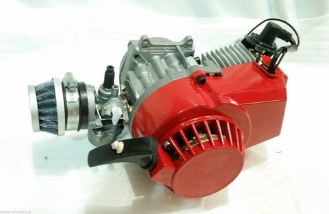 ENG22 ENGINE & CARB AIR FILTER HEAD RED PULL START FOR 49CC MINI MOTO / MINI QUAD BIKE - Orange Imports - 1