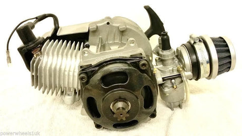 ENG33 COMPLETE MINI MOTO / QUADARD / MINI QUAD BIKE ENGINE 49CC AIR COOLED - Orange Imports