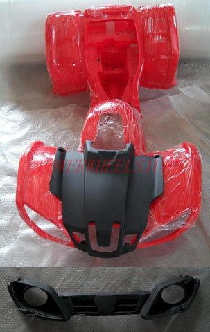 FDQ03 FRONT & REAR FARM STYLE FAIRINGS FOR 150CC QUAD RED - Orange Imports