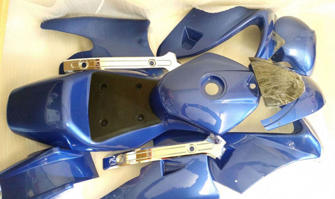 FMM07 MINI MOTO COMPLETE FAIRING PLASTICS BLUE - Orange Imports